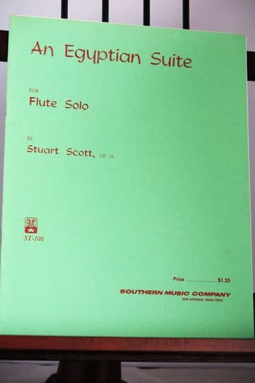 Scott S - An Egyptian Suite Op 33 for Flute Solo